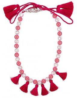 Sautoir Tassel Necklace - Pink