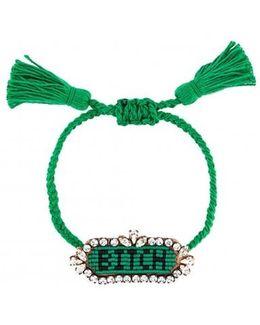 'bitch' Beaded Bracelet