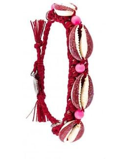 Shell We Dance Bracelet - Red