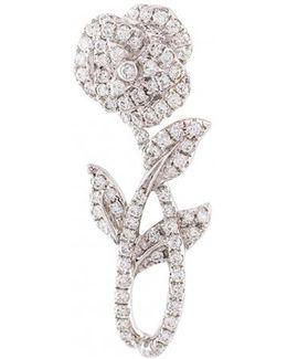 Rose Stem Diamond Earring