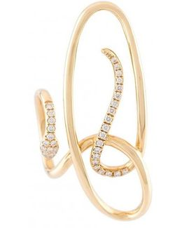 Serpent Diamond Earring
