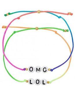 Omg Lol Bracelet Set