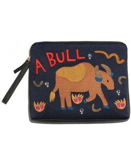 Bull Icon Safari Clutch