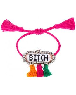 Multicolor 'hippie Bitch' Bracelet