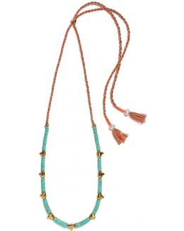 Simple Tooth Necklace - Turquoise