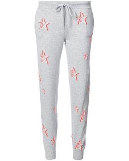 3d Star Print Track Pants