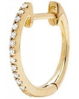 Diamond Mini Huggie Earrings