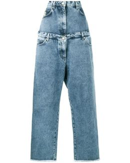 Layered Wide Leg Jeans
