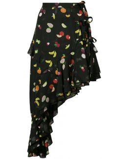 Chet Fruit Print Skirt