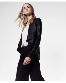 Coated Drape Jacket