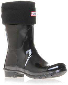 Short Welly Sock In Black