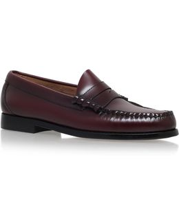Larson Moc Penny Loafer In Wine