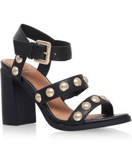 Nutty Studded Block Heeled Sandals
