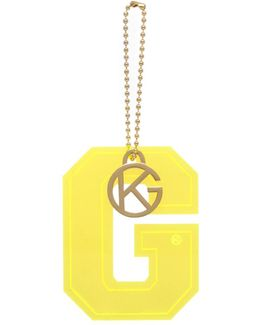Letter G Charm In Yellow