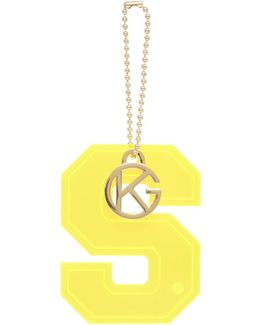 Letter S Charm In Yellow