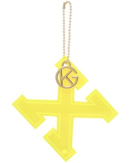 Letter X Charm In Yellow