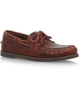 Docksides Brown Leather Boat Shoe