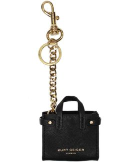 London Tote Keyring In Black