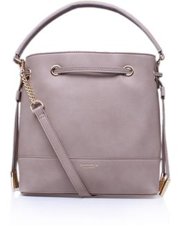 Phoebe Bucket Bag In Taupe