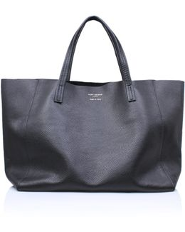 Violet Horizontal Tote In Black