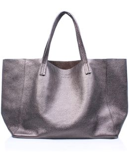 Violet Horizontal Tote In Gunmetal