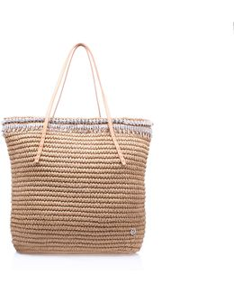 Diamante Raffia Bag