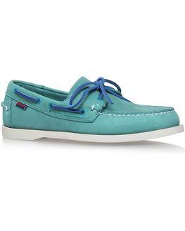 Dockside Boat Shoe In Teal