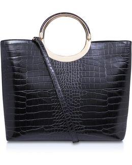 Rosie Metal Handle Bag In Black
