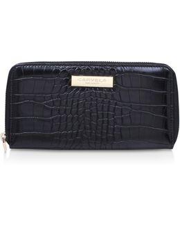Alis Croc Wallet In Black