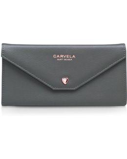 Amy Envelope Wallet In Khaki