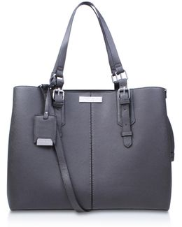 Ortha Large Slouch Tote In Grey Dark