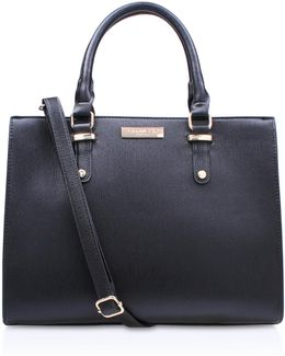 Race Structured Tote In Black