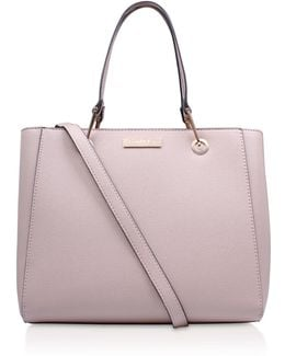 Reign Zip Structured Tote In Nude
