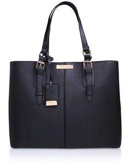 Ortha Large Slouch Tote In Black