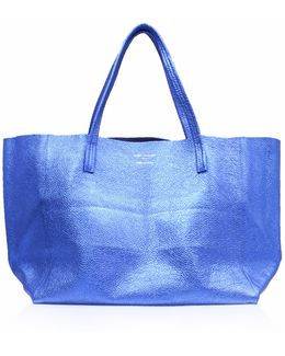Violet Horizontal Tote In Blue Other