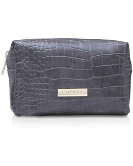 Ryley Boxy Cosmetic Pouch In Grey