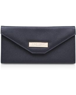 Rose Envelope Purse In Black