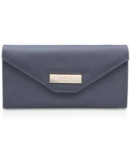 Rose Envelope Purse In Grey