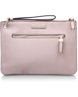 Roxy Zip Pouch In Nude