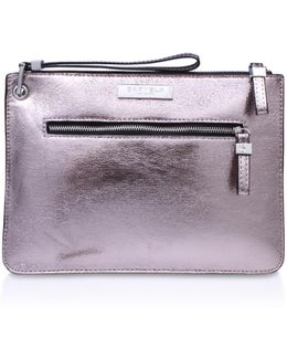 Roxy Zip Pouch In Pewter