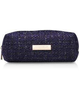 Tweed Pouch In Navy