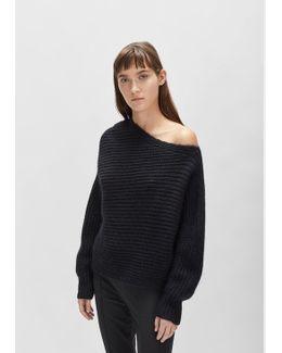 Chunky Mohair Asymmetrical Sweater