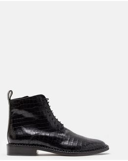Jacen Croc Lace Up Boots