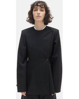 Wool Asymmetrical Suit Jacket