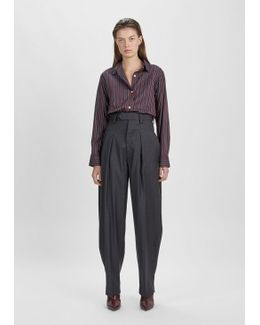 Mexi Oversized Wool Trousers