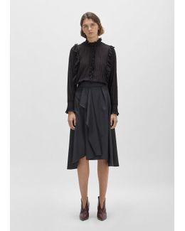 Mewina High Waisted Wool Wrap Skirt