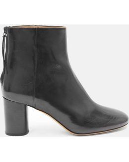 Ritza Round Toe Leather Boots