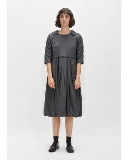 Wool Shadow Herringbone Dress