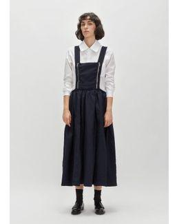Polyester Tropical Suspender Dress