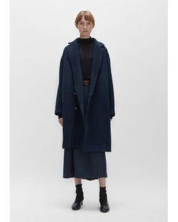 Angora Wool Cocoon Coat